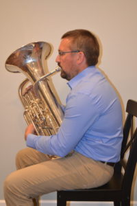 euphonium with collapsed back