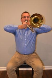 trombone with flyaway elbows