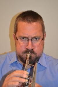 Trumpet cheek puffing