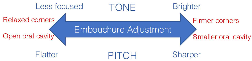 Relationship between tone and pitch