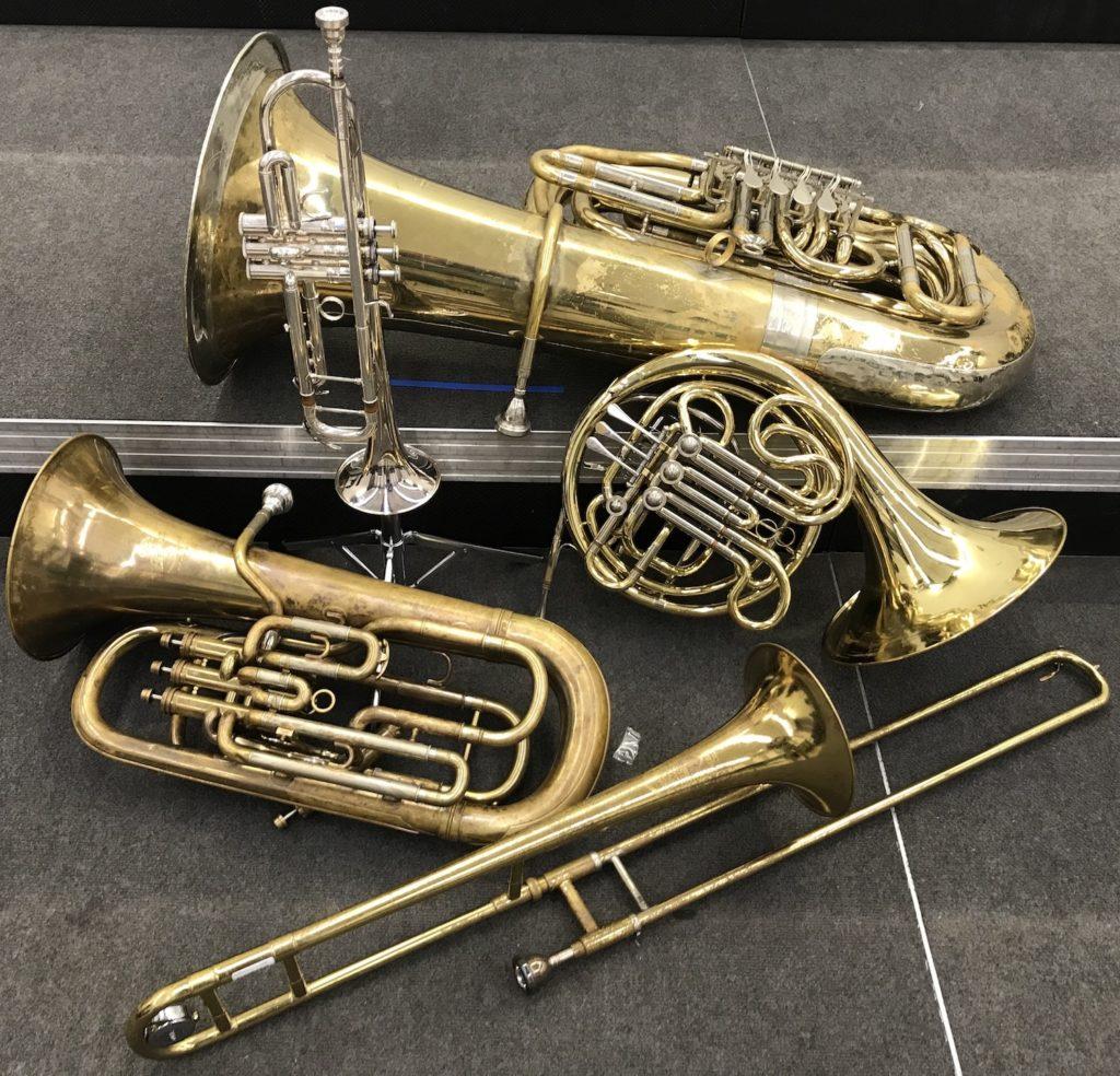 Various brass instruments
